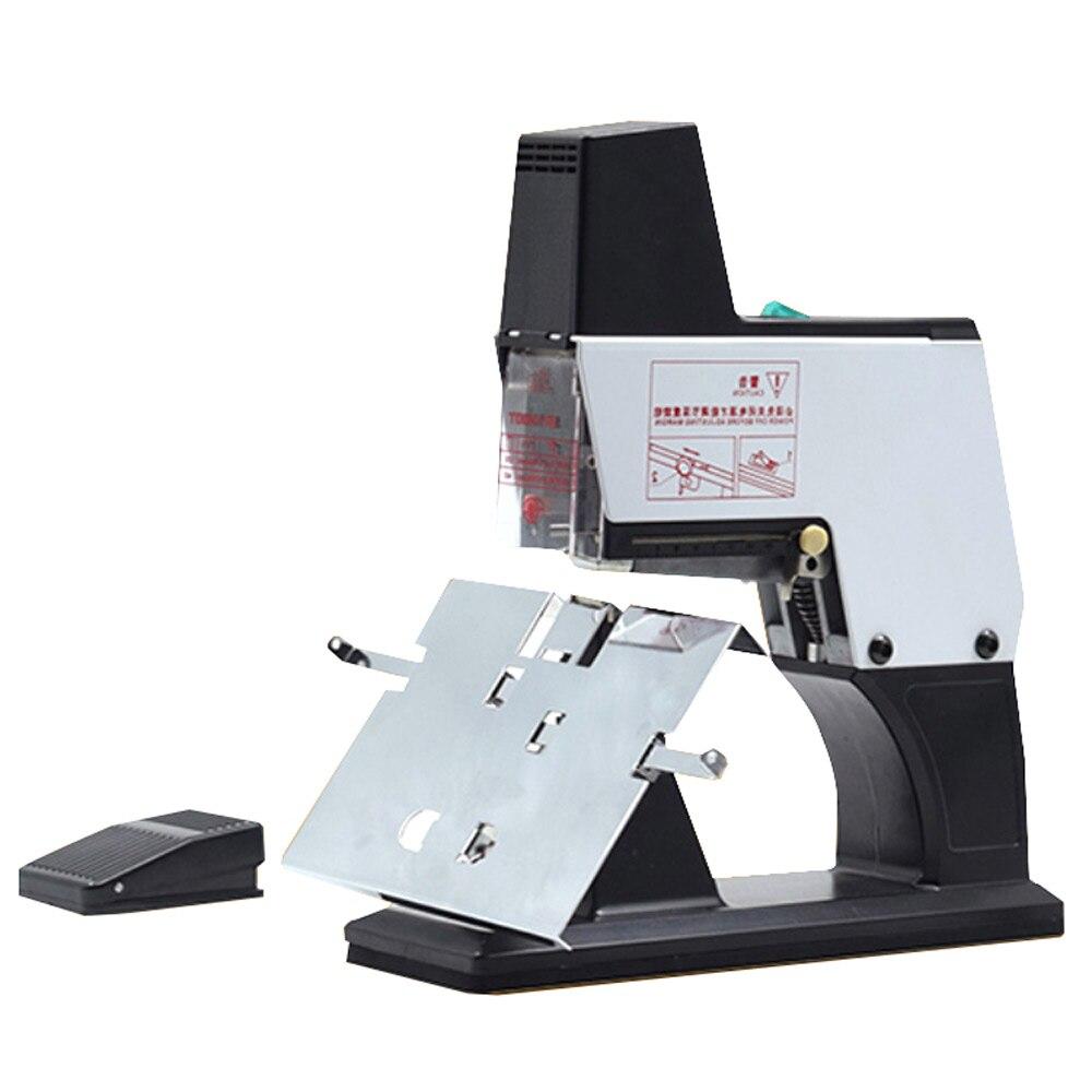 Электрическая машина для обвязки текста, центральный степлер, сверхмощный полностью автоматический плоский степлер
