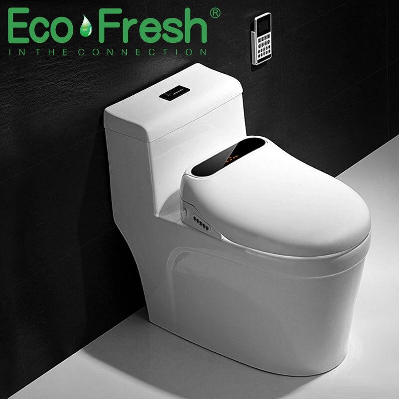 Ecofresh مقعد مرحاض ذكي مقعد المرحاض بيديه بيديه كهربي غطاء الحرارة مقعد مصباح ليد غطاء المرحاض الذكي السيارات