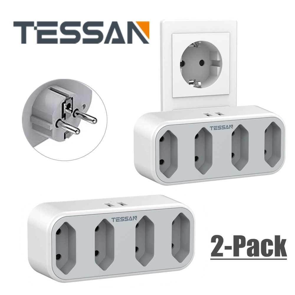 TESSAN-Alargador portátil para hogar, oficina y viaje, varios puntos de venta, con...
