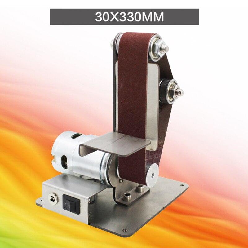 Mini lijadora de cinta DIY, lijadora, amoladora de cinturones abrasivos, pulidora KSI999
