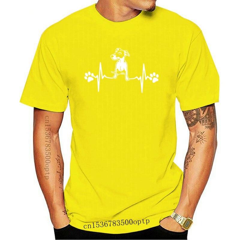 New 2021 Jack Russell Heartbeat T Shirt Men Tee Short Sleeve 100% Cotton Animal Funny Man Dog T-Shirt