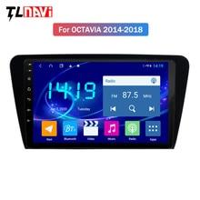 DSP CARPLAY système de navigation gps   4 go + 64 go, 10.1 pouces, pour skoda octavia 2014-2018, système de dvd de voiture multimédia IPS android 9