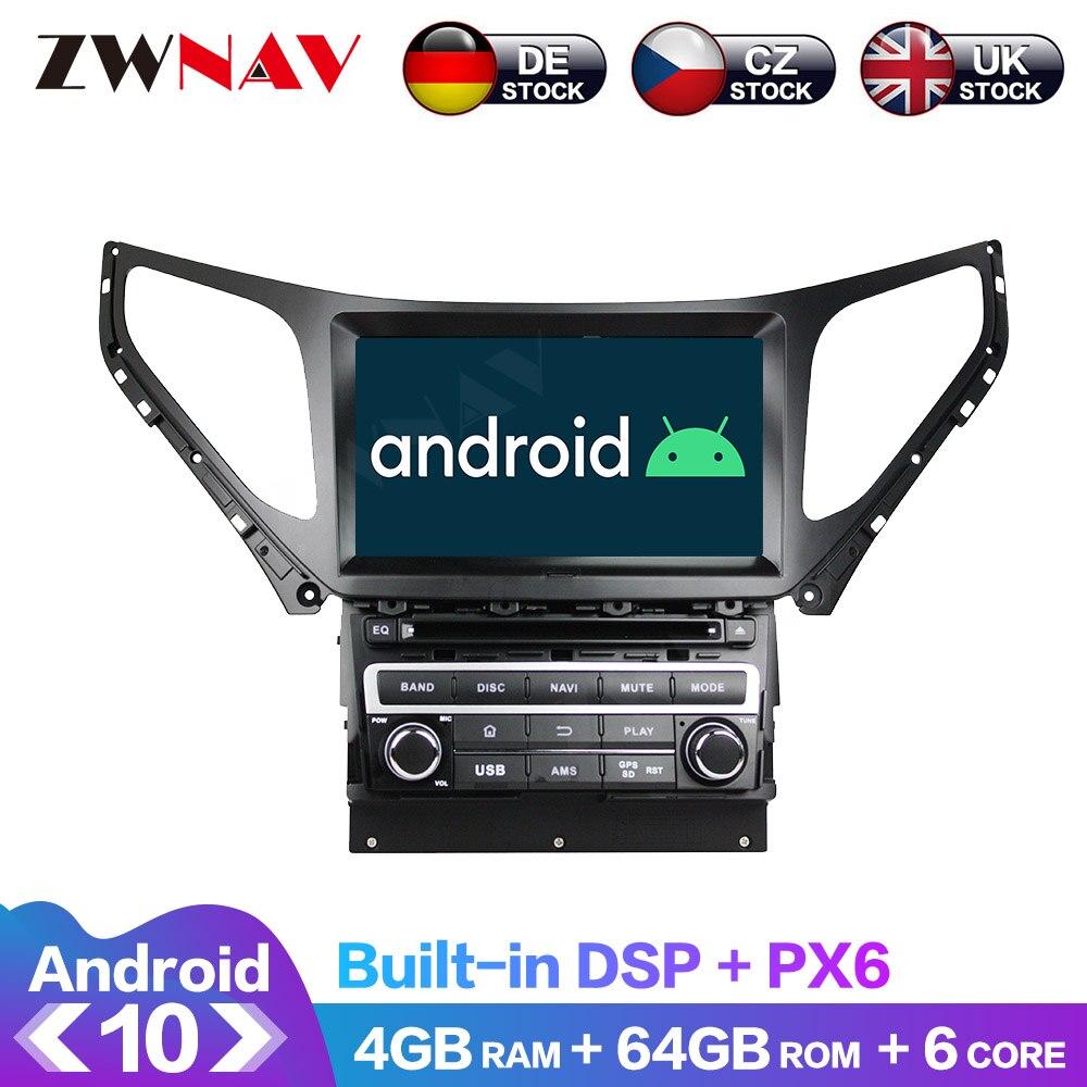 Android DSP 4 + 64G para Hyundai AZERA grandeza i55 2016 + GPS para coche Navi DVD Player Radio Multimedia IPS pantalla unidad ESTÉREO