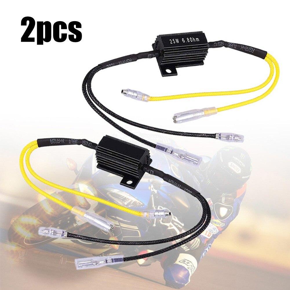 2 шт., автомобильный резистор для декодирования нагрузки, 25 Вт, 6,8 Ом