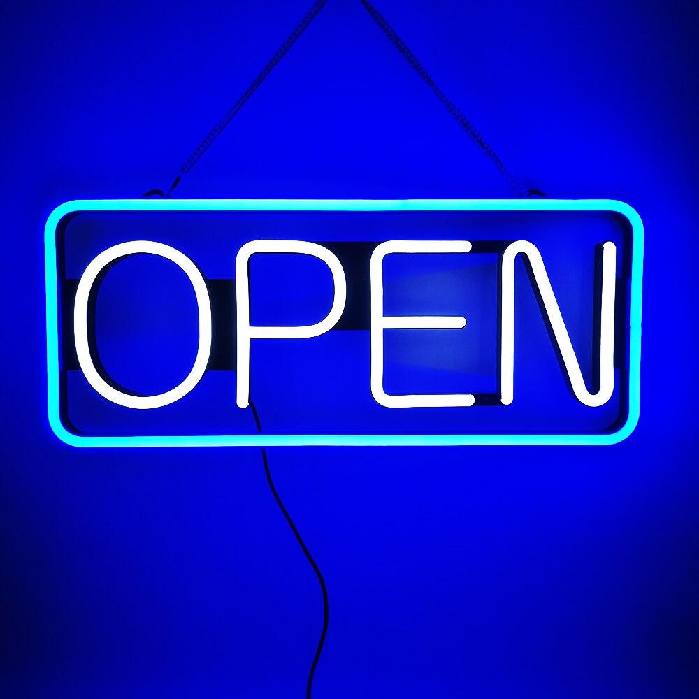 مصباح نيون LED ساطع للغاية ، علامة مضيئة للديكور الداخلي ، متجر ، شعار مفتوح