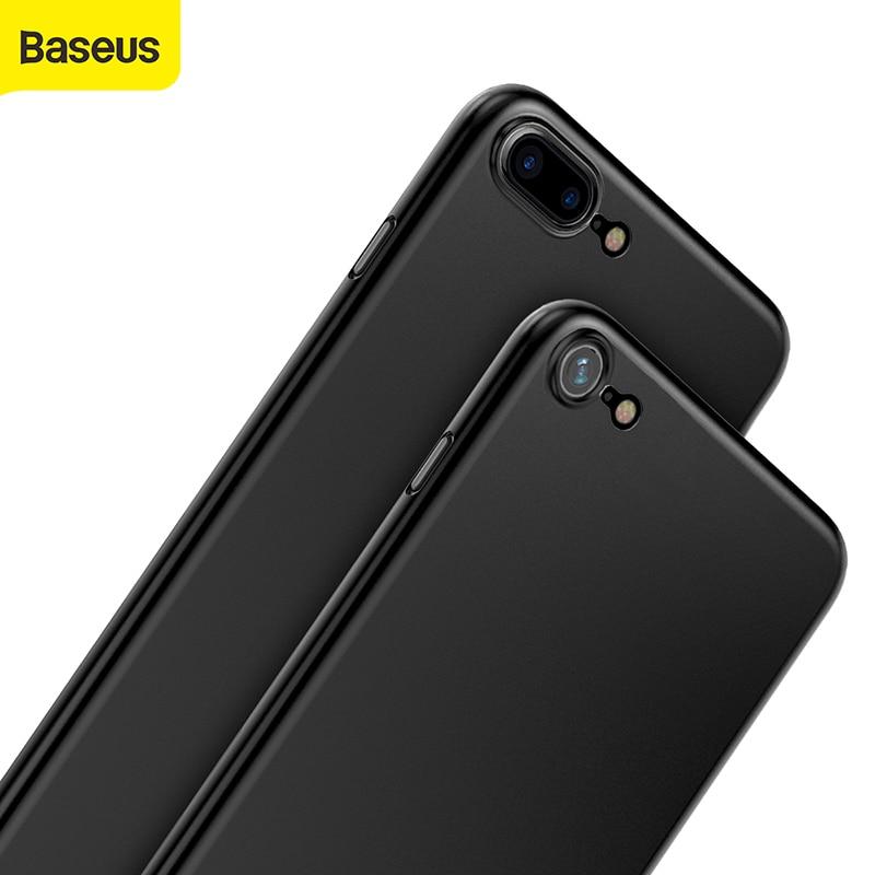 Baseus étui de Protection de téléphone pour iPhone Transparent 5.5 pouces 0.4mm mince mince lumière pleine couverture arrière étui de Protection pour téléphone