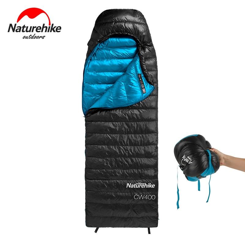 Naturehike-كيس نوم شتوي دافئ ، CW400 ، أوزة بيضاء ، كيس نوم