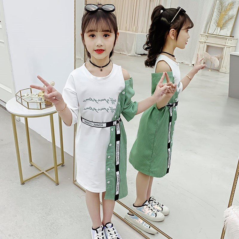 2021-girls-summer-simple-cool-fashion-stitching-dress