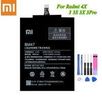 Original Xiao Mi Batterie BM47 For Xiaomi Redmi 4X / Redmi 3 3S 3X 4X Redrice 3Pro Battery 4000/4100mAh Akku +Tools