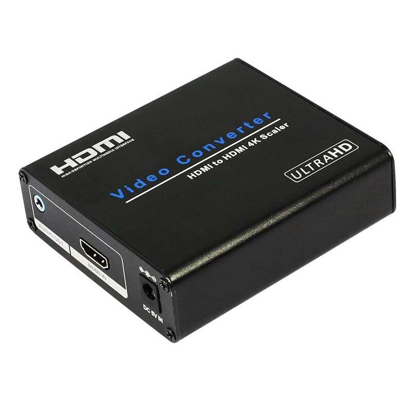 -Hdmi a Hdmi 4K Scaler convertidor 4K x 2K Video caja convertidora de Audio para Dvd Set-Top Box Hdtv Projector de enchufe de la UE