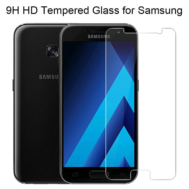 2.5D Protector de pantalla de vidrio templado para Samsung Galaxy J3 J5 2017 UE J7 2017 US J310 J510 J2 película protectora de vidrio Prime 10 Uds