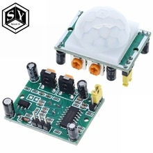 1PCS HC-SR501 Acryl Beugel IR Pyro-elektrische Infrarood Motion Sensor Detector Module voor Arduino Diy Kit HC-SR501