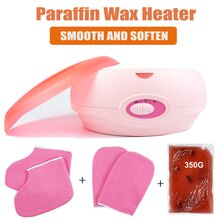 Paraffin Wax Heater With Hand Foot Gloves Set Therapy Bath Wax Pot Warmer Beauty Salon Spa for Body