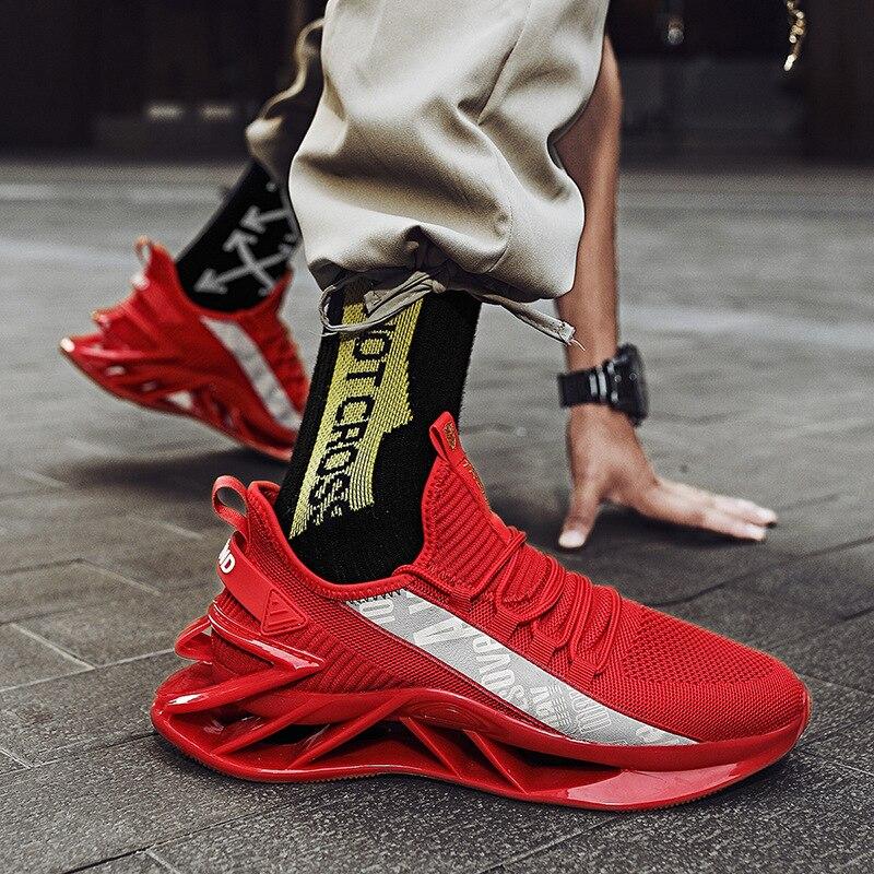 2021 الصيف الرجال جديد تنفس موضة قماش شبكي رياضي أحذية غير رسمية خفيفة الوزن أحذية مفلكنة المشي أحذية رياضية حجم كبير