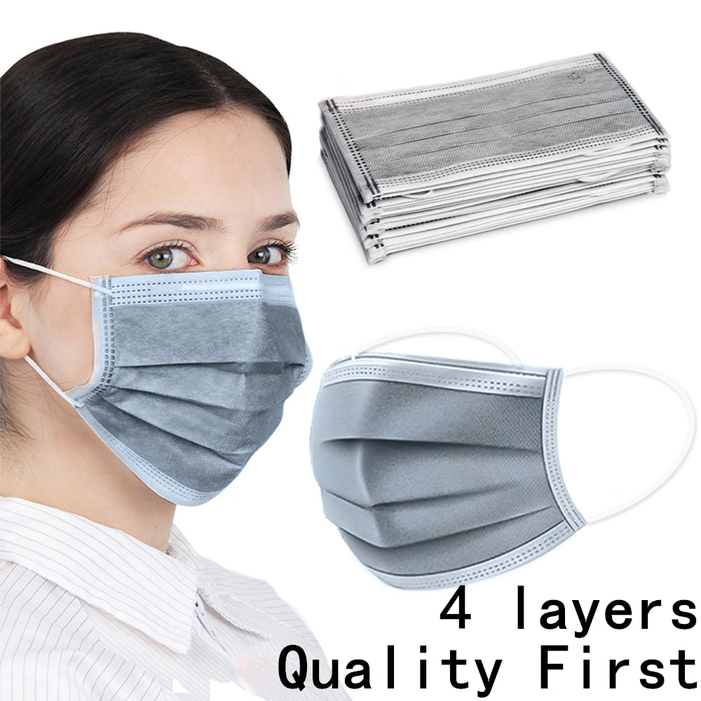 new n95 dust mask activated carbon double breathing valve protective masks dust mask masks second hand smoke 50pcs 4layers Gray Anti-dust Virus Safe PM2.5 Activated Bamboo Carbon Antivirus Masks Cozy Qualified Face Masks Protective Mask
