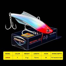 1PC Pencil VIB Fishing Lure 7.3cm 20.5g Sinking Bass Bait Vibra Rattlin 6# BKB Hook Artificial Hard Bait Trout Tackle