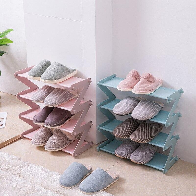 Casa conveniente multi-camada simples sapato multi-purpose montagem sapatos detritos rack de armazenamento à prova de umidade durável sapato de armazenamento rac