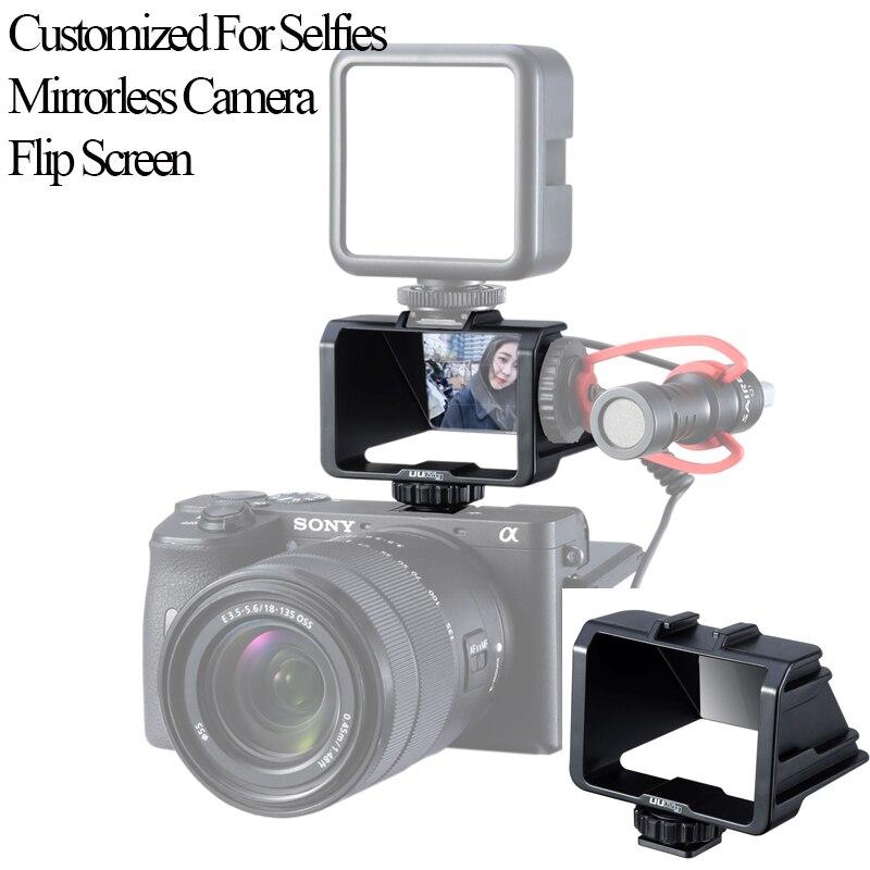 Uurig solução de periscópio selfie para sony a6000 a6300 a6500 a72 a73 canon eos panasonic gx85 nikon mirrorless câmera flip screen