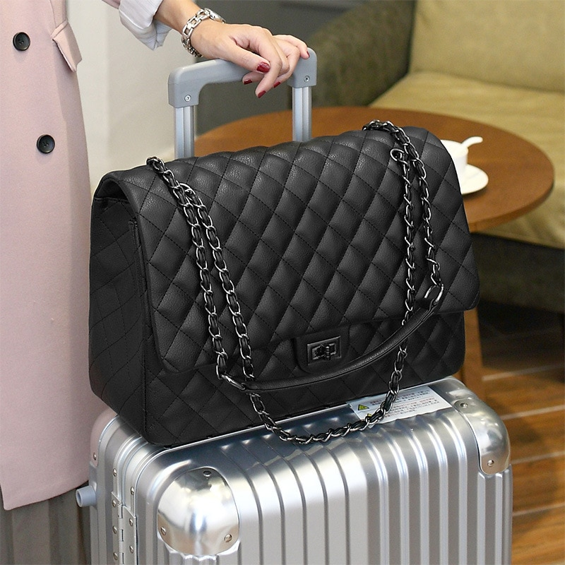 Large Capacity Bag For Women Travel Shoulder Bag High Quality Leather Flap Luggage Bag Female Luxury Handbag Bolsa Feminina Tote