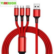 Vente chaude 3 en 1 Micro Usb type C chargeur câble Multi Port Usb plusieurs Usb câble de charge Usbc câbles de téléphone portable pour Samsung