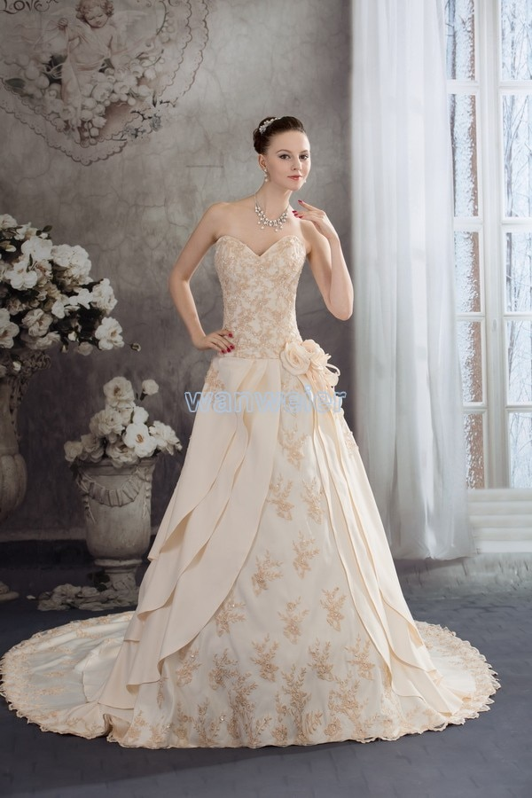 2020 real photo sale tassel free shipping formal gown new custom dress long sleeve with jacket plus size bespoke wedding dresses free shipping 2020 chamagne bridal fantasias pretty plus size handmade custom real photos lace-up bride Bespoke Wedding Dresses