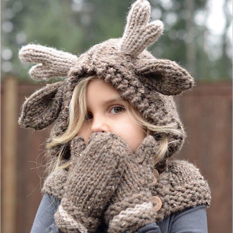 Ropa de fotografía para niños animal dibujos animados ciervo sombrero chal traje bebé Luna Llena cien días fotografía ropa