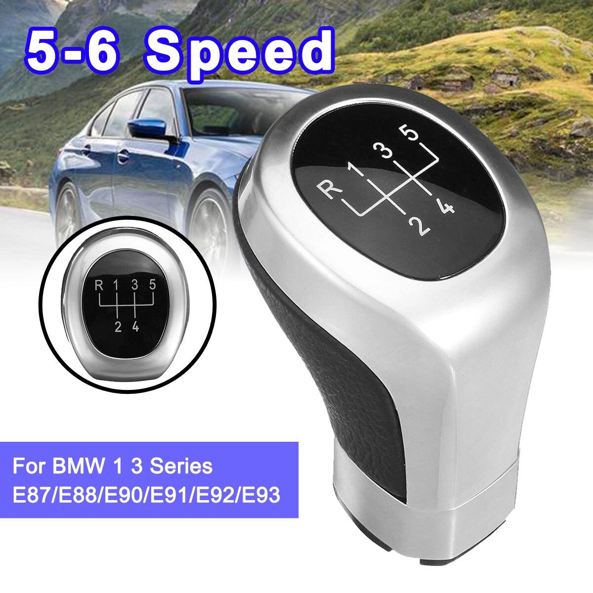 Car 5 6 Speed Gear Shift Knob Shifter Lever Knob Head Replace For BMW 1 3 series E81 E87 E88 E82 E90 E91 E92 E93 2005-2011