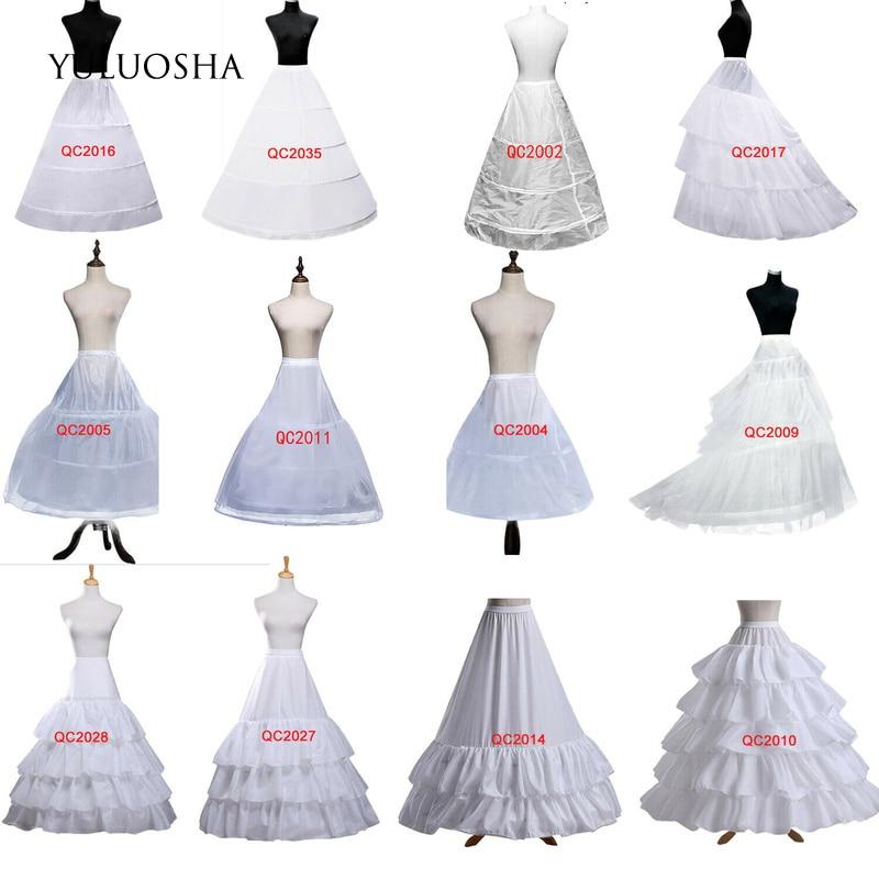 YULUOSHA-enagua de Aro Para mujer, enagua, vestido de novia, Boda, falda hinchada,...