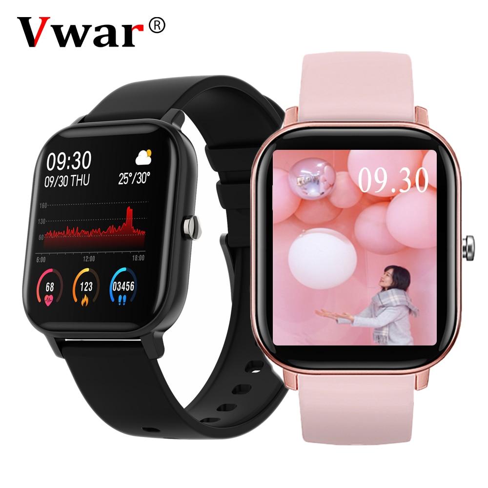Смарт-часы Vwar P8A 2020 для мужчин и женщин, фитнес-трекер, умные часы, монитор сердечного ритма, спортивные часы GTS для IOS Xiaomi Huawei OPPO