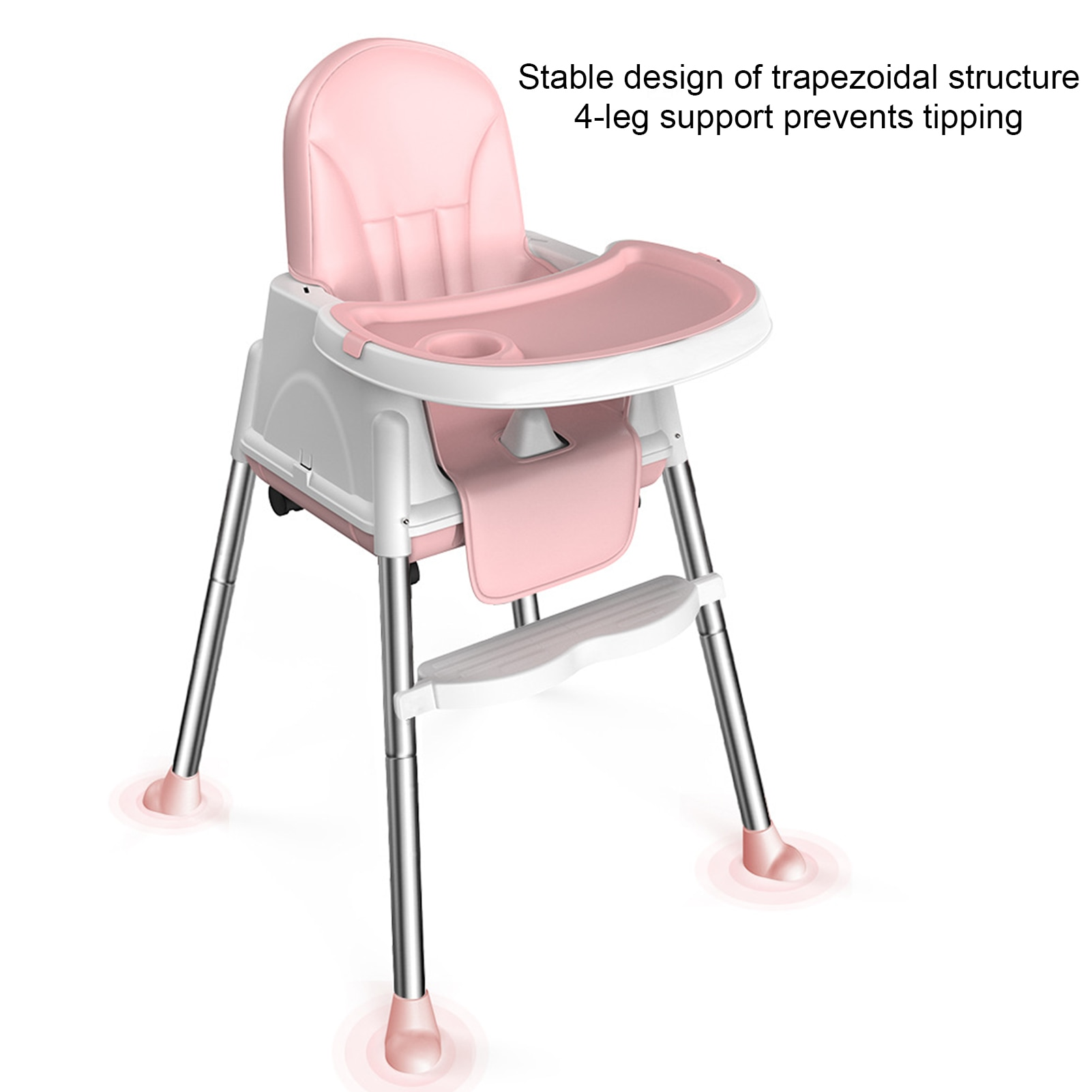 Portable Baby Seat Baby Dinner Table Baby Dining Chair Height Adjustable High Chair With Feeding Tray For Children enlarge