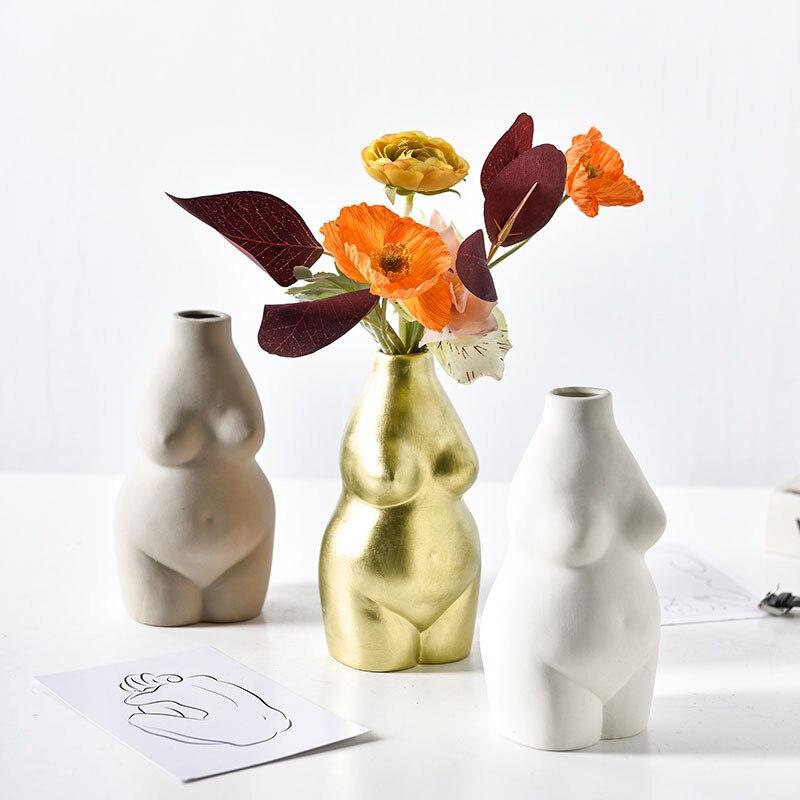 Sala de Estar Flor do Corpo Moderno Simples Criativo Utensílios Decorativos Designer Casa Arranjo Feminino Arte Vaso Ornamento Pós