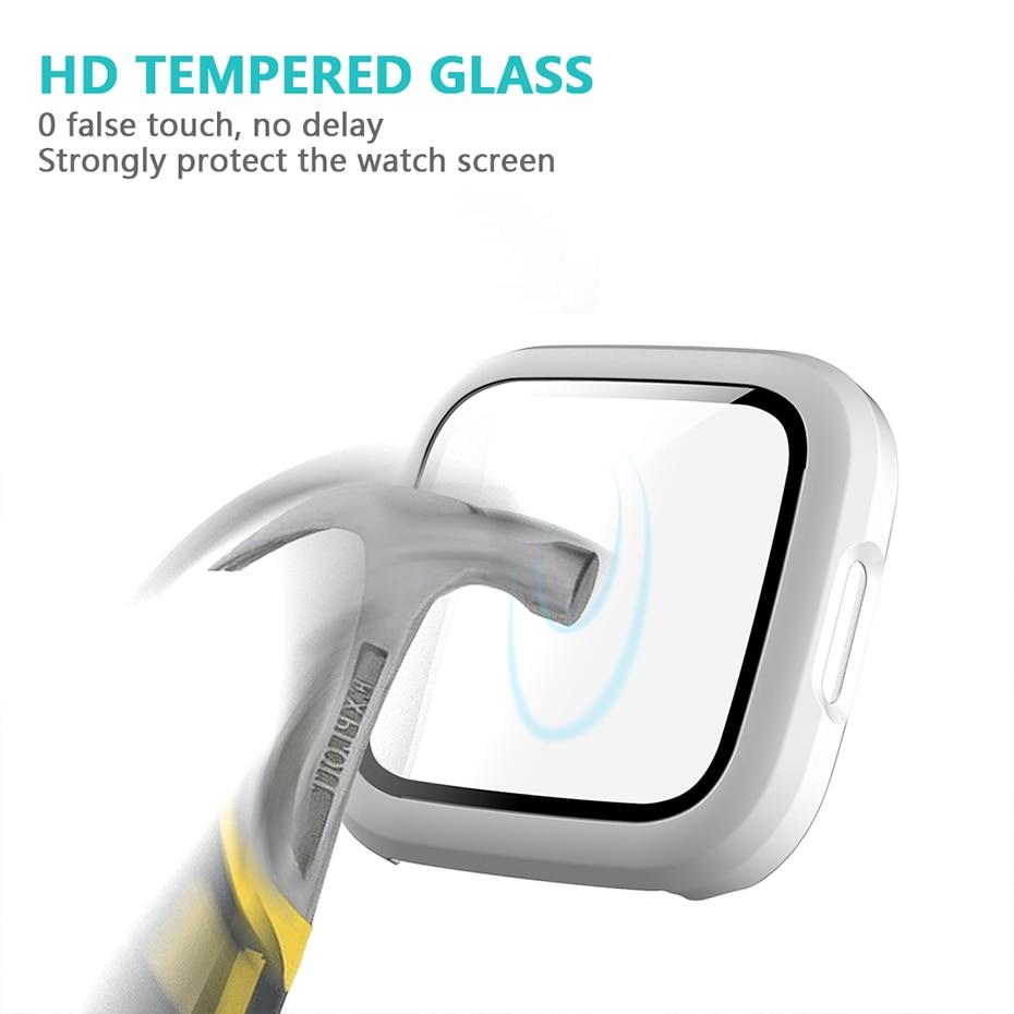 Protecteur décran étui pour Fitbit Versa 2 Ultra mince souple couverture complète pare-chocs cadre accessoires Smartwatch antibulle HD Film transparent