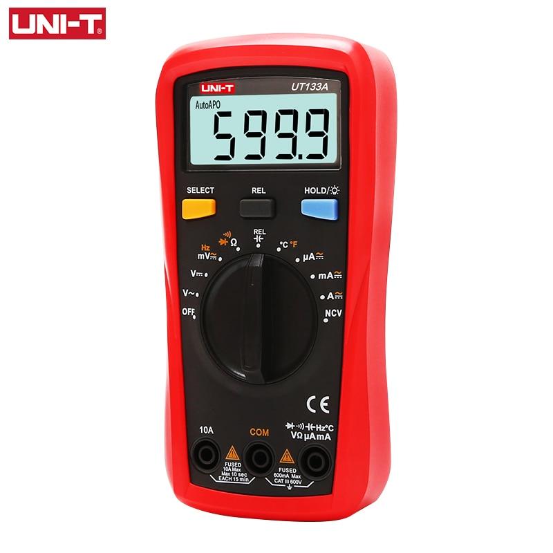 UNI-T UT133A UT133B المهنية الرقمية المتعدد التيار المتناوب تيار مستمر جهاز قياس الجهد الكهربائي الفولتميتر مقياس التيار الكهربائي السعة
