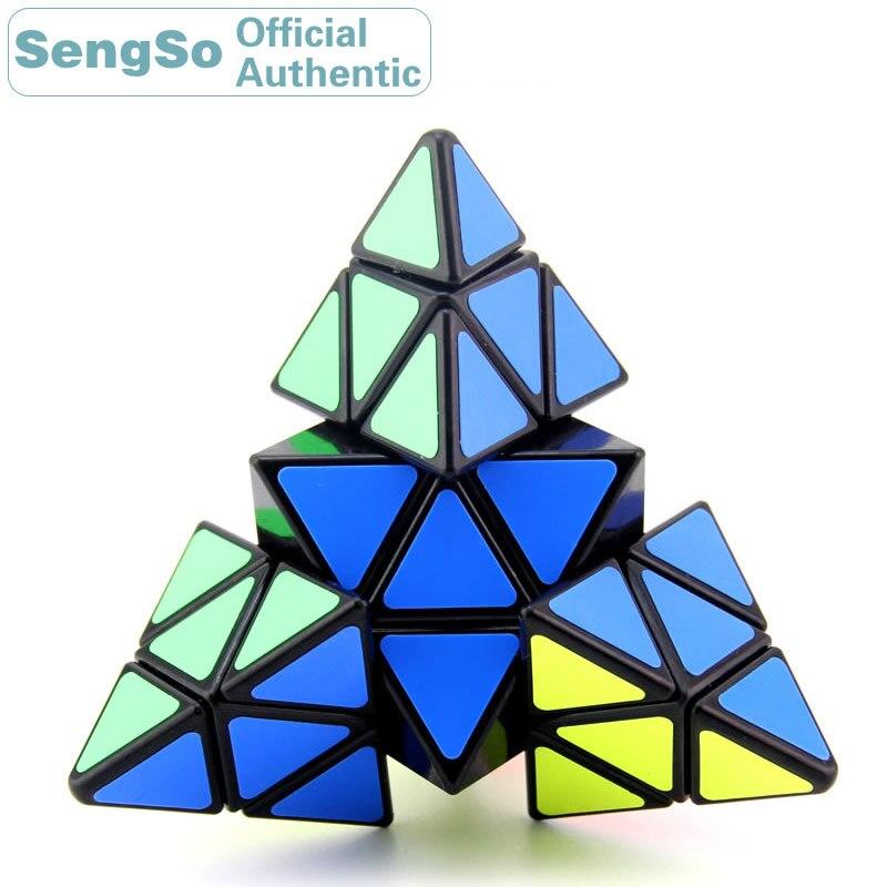 ShengShou Pyramid Magic Cube SengSo 4x4x4 Cubo Magico Professional Neo Speed Cube Puzzle Antistress toys for children boys
