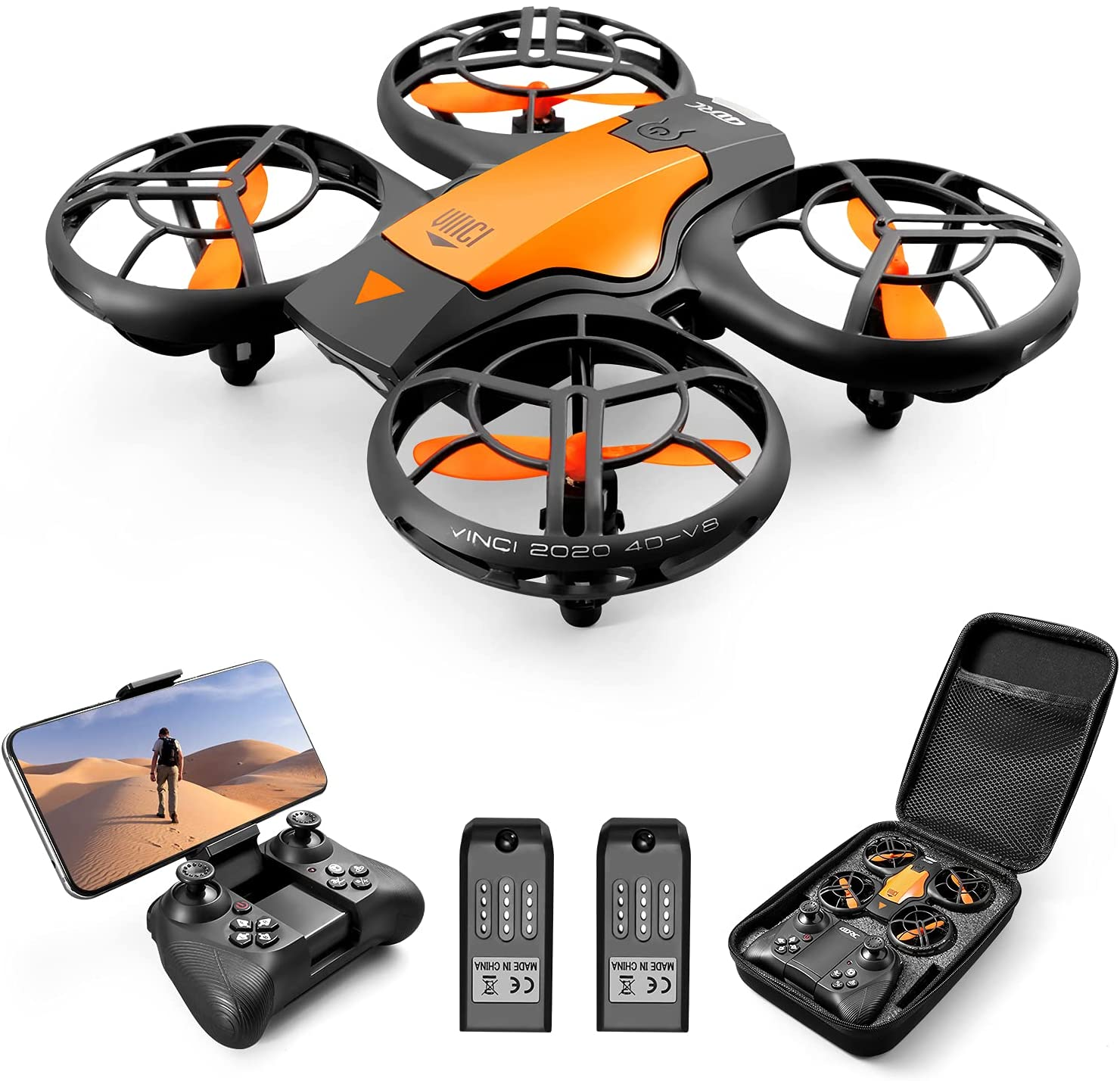 4DV8 RC Drone with 720P Camera for Adults kids,Hand Operated/ Remote Control Quadcopter Toys, 2.4G FPV Live Video, With 2