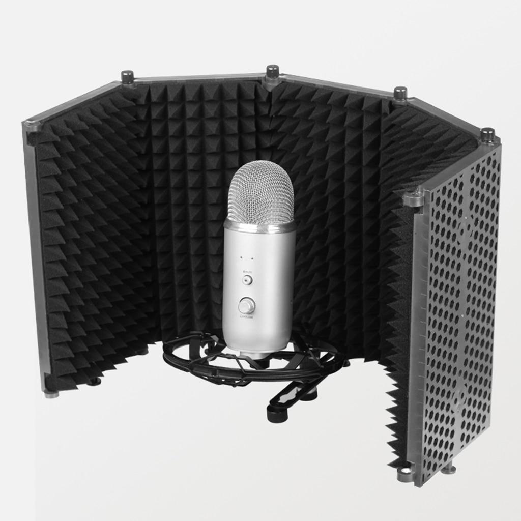 Protección de micrófono para grabación de sonido transmisión en vivo accesorios de micrófono Premium absorbente DE RUIDO Accesorios musicales de espuma