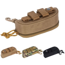 1000D Nylon Portable Hunting Sunglasses Case Military Molle Pouch Goggles Storage Box Nylon Hard Eye