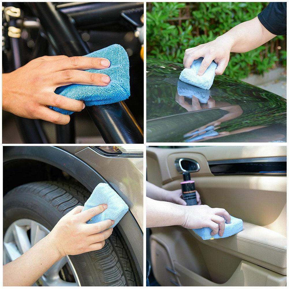 8PCS Car Microfiber Applicator Sponge Cloth Waxing Wax Polishing Household Cleaning Pad Kitchen Hand Bag Spo X2K9