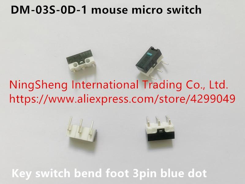Original nuevo 100% de importación de DM-03S-0D-1 de ratón micro interruptor de llave curva pie 3pin punto azul