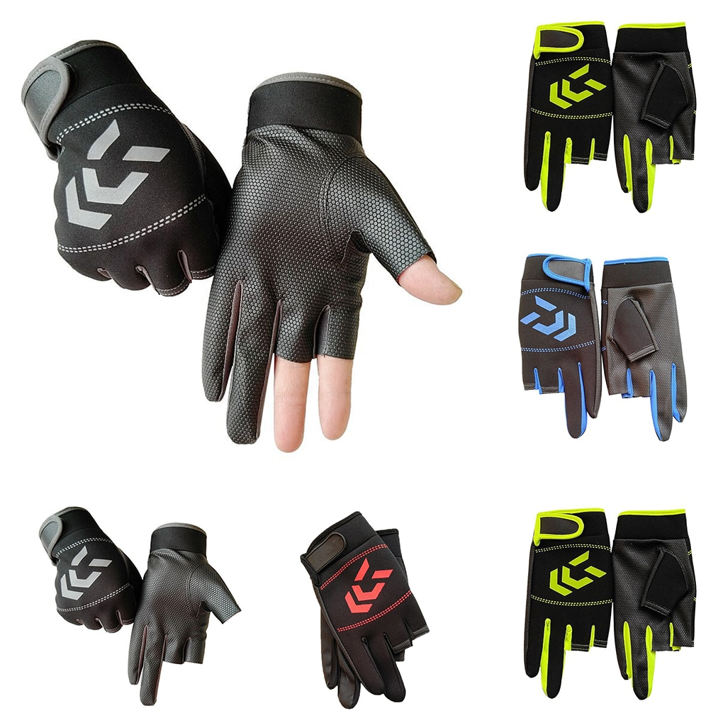 1 Pair Men Fishing Gloves Hands Protection Angling Casting Protector Nonslip Mens