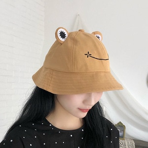 2021 Parent-Kid Cartoon Frog Bucket Hat Panama Fishing Cap Cute Froggy Hat Homme Femme Bob Chapeau Outdoor Sun Fisherman Hat