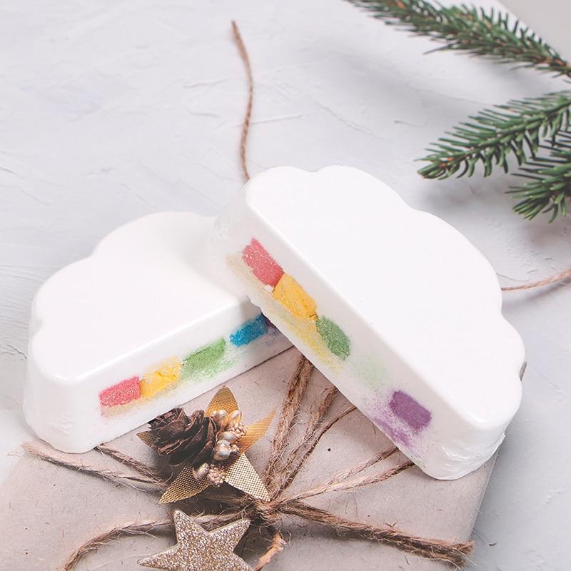 Natural Skin Care Cloud Rainbow Bath Salt Exfoliating Moisturizing Bubble Bath Bombs Ball Essential Supplies недорого