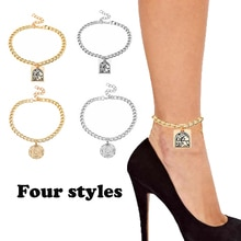 4 Style New Fashion Simple Generous Women Cool  Ladies Ankle Bracelet Religious High Heels Boots Sho