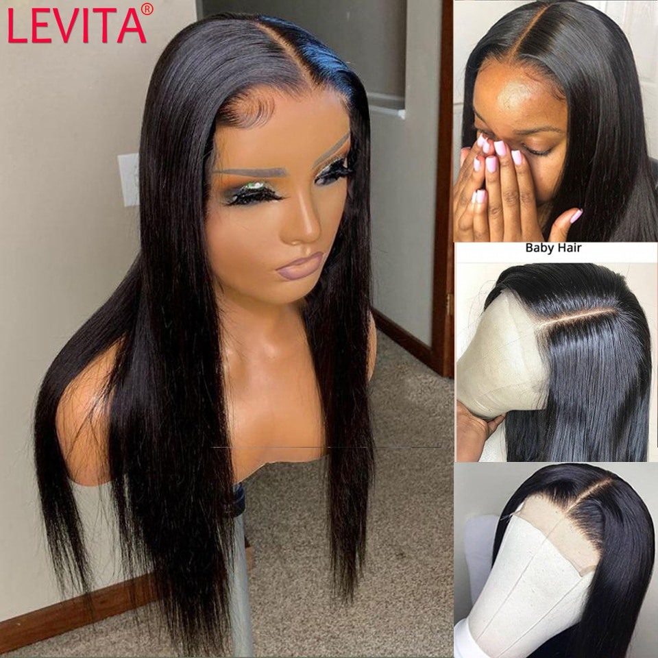 long hair wig 28 30 32 inch lace frontal wig Brazilian straight lace front Human Hair Wigs for black women lace closure wig