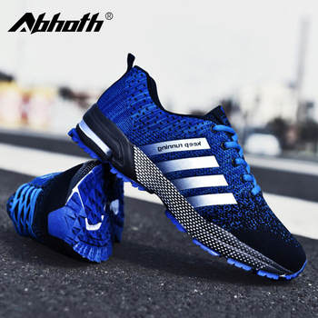 Abhoth Mens Mesh Breathable Casual Shoes Non-Slip Stable Shock Absorption Lightweight Sneakers Couple Basket Homme 2020