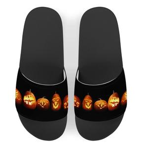 the new customized Halloween letter pattern cool slippers, women wear the seaside beach shoes with flat sandals Rome