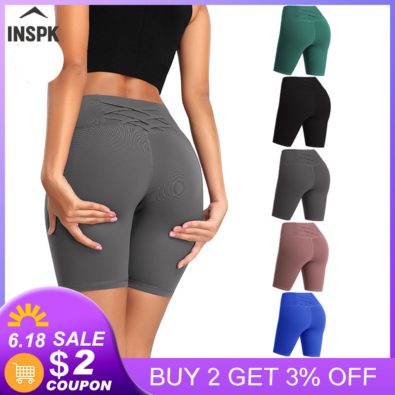 Calções de yoga para as mulheres de fitness cintura alta sem costura push up correndo jogging esportes leggings secagem rápida verão roupas de ginástica 2020 novo