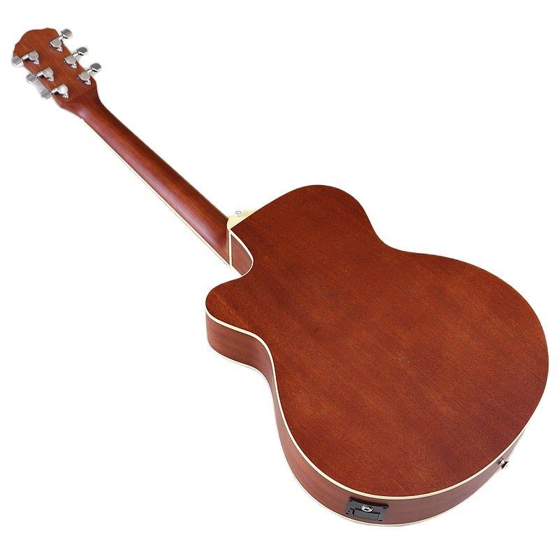 F Hole 40 Inch Acoustic Guitar Brown 6 Strings Folk Guitar Full Sapele Wood Body Cutaway Matte Finish Chrome Diecast Guitarra enlarge