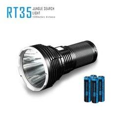 Imalent rt35 recarga lanternas cree xhp35 oi 2350 lumens led lanterna com carregamento usb tocha luz com 4 pçs 18650 bateria