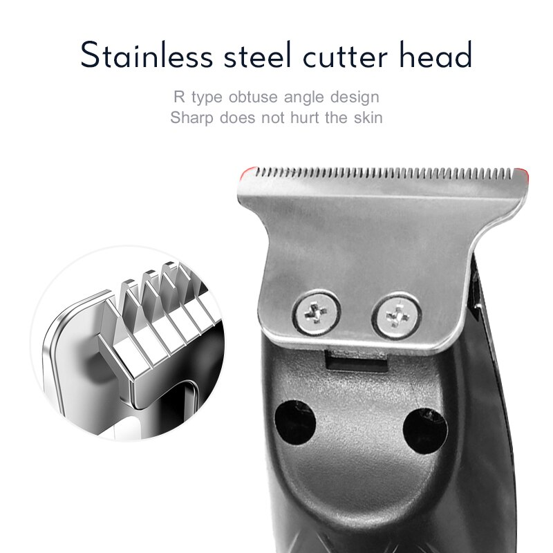 USB Rechargeable Men's Electric Hair Trimmer Stainless Steel Blade Barber Hair Clipper Hair Cutter for Men Adult Razor Machine enlarge